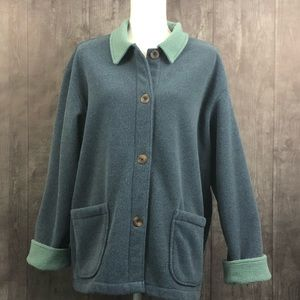 Friday Harbor USA Soft Fleece Button Front Sweater